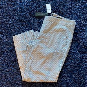 BANANA REPUBLIC seersucker pants trousers size 14